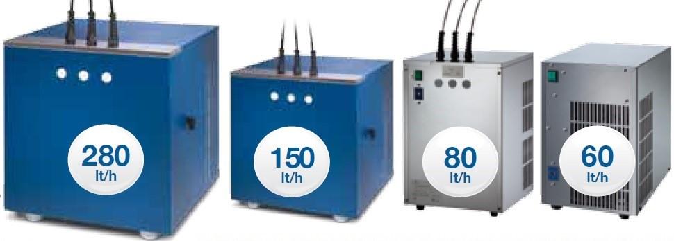 Dezentrale Zapfstellen wie Küche, Tagung, Bar etc mit Pythonleitungen zum Anschluß an Einbau-Wasserspender mit passender Leistung