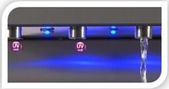 h2o-Wasserspender 180cbu mit UV-Filter für höchste Hygienesicherheit