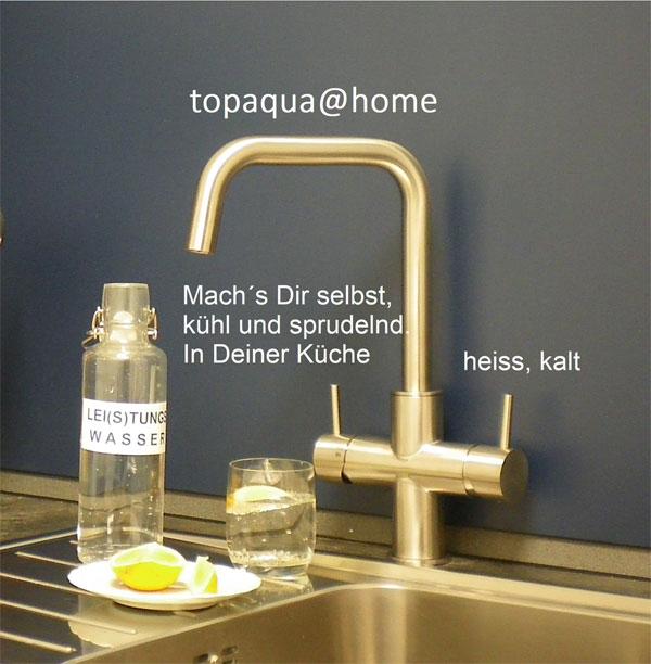 Normales und kühles Sprudelwasser aus einer Armatur macht die Küche zur hauseigenen Quelle