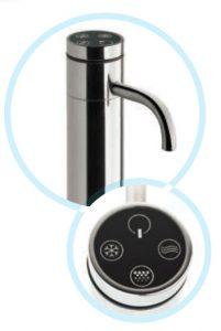 3-fach Zapfarmatur zum Anschluß an eingebauten Wasserspender