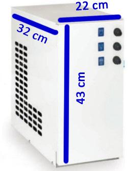 Kühlkarbonator des Wasserspenders im Unterschrank zum Anschluß an Zapfarmatur oder Zapfsäule